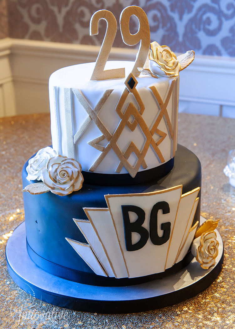 Fairwell to the Roaring Twenties | Art Deco Birthday Cake bu Cake by Jason | Event Design by Innovative Party Planners