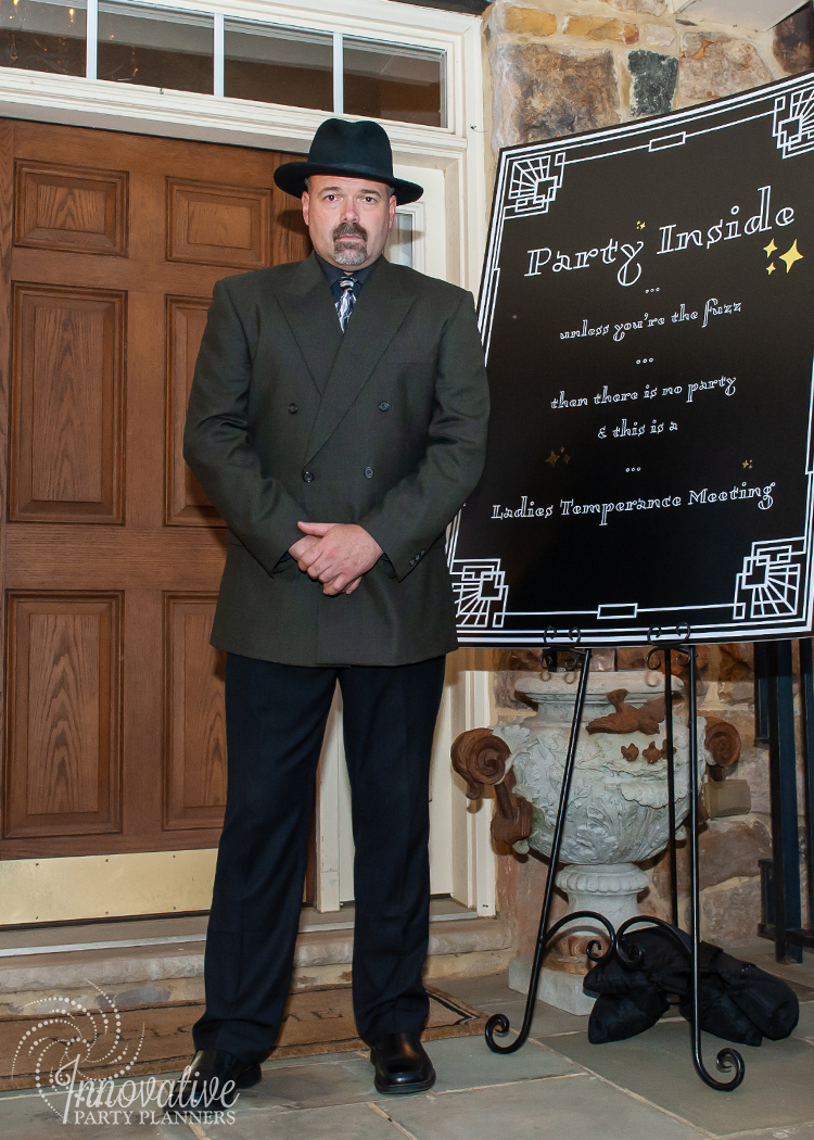 Fairwell to the Roaring Twenties | Speakeasy Body Guard by Innovative Party Planners