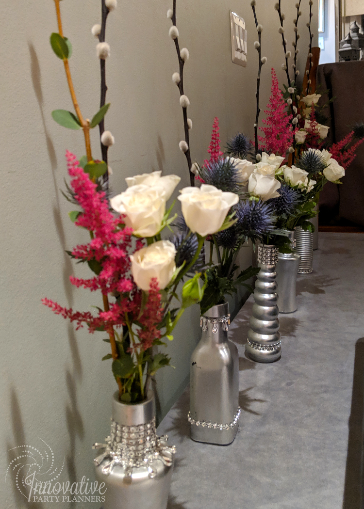 Thanksgiving 2018_Flowers in Silver Bud Vases on Station in Dining Room.jpg