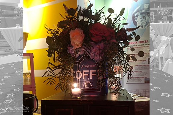 Guest Table Centerpieces 4_1940s Themed Decor_InnovativePartyPlanners2018.jpg