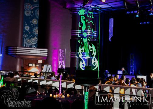 Aydins Bar Mitzvah_Music Theme_Innovative Party Planners_07_LED Tall Guitar Centerpiece_Green.jpg