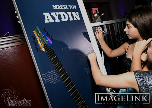 Aydins Bar Mitzvah_Music Theme_Innovative Party Planners_18_Sign in Door.jpg
