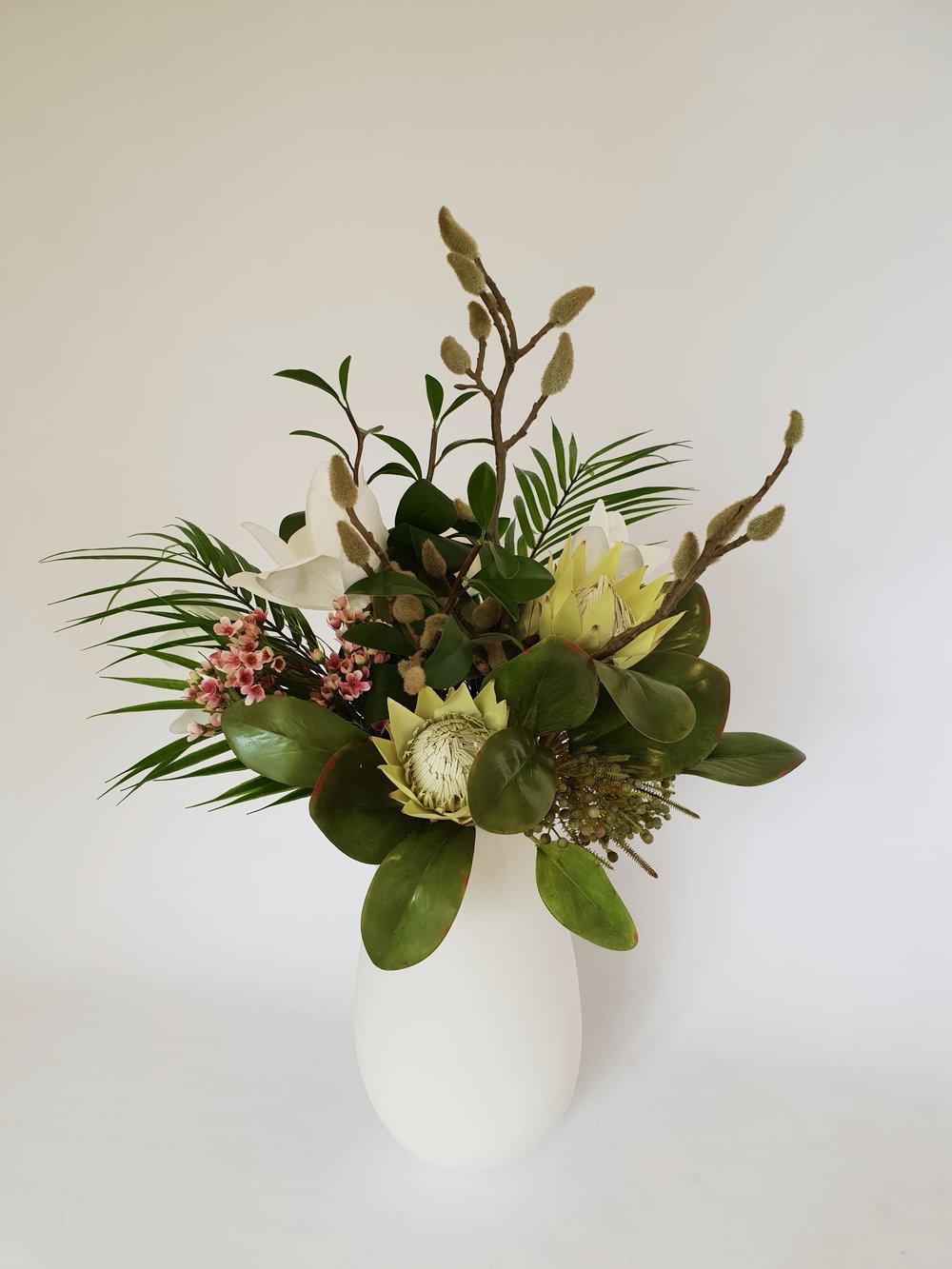 Artificial Silk Flower Arrangement For Rental Mimosa Flowers