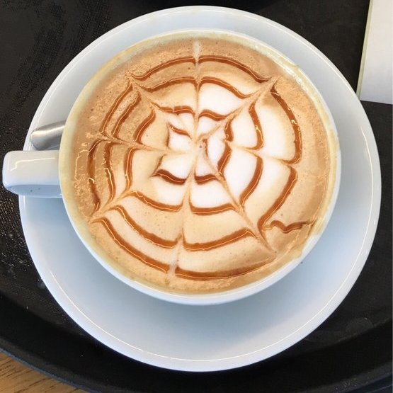 Cup of Coffee with Spiral Design