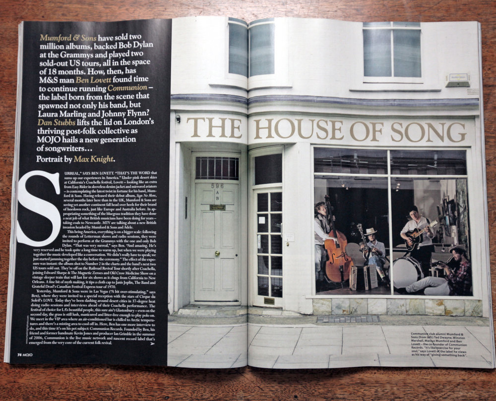 Mumford & Sons MOJO Magazine