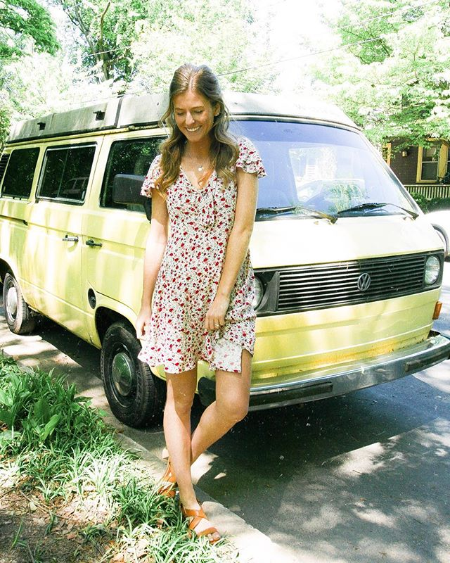NEW BRAND LAUNCH ALERT!!! Living in this @sugarhigh_shop dress this spring 🌸 check out the NEW brand and visit their website for a chance to win a trip to CALI! Link in my bio!  I love stalking all the adorable cars around East Atlanta, found this cutie in #inmanpark 🚌 • • • #sugarhighshop #sugarhighbabes #maggiedox #blog #blogger #atlanta #atl #atlantastyle #eastatlanta #vwbus #volkswagenbus #newlaunch #newbrand #newboutique #launchparty #sugarhighdancingmoonlight