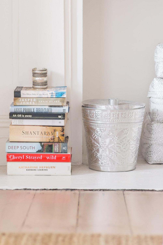 Piles of books everywhere = heaven!