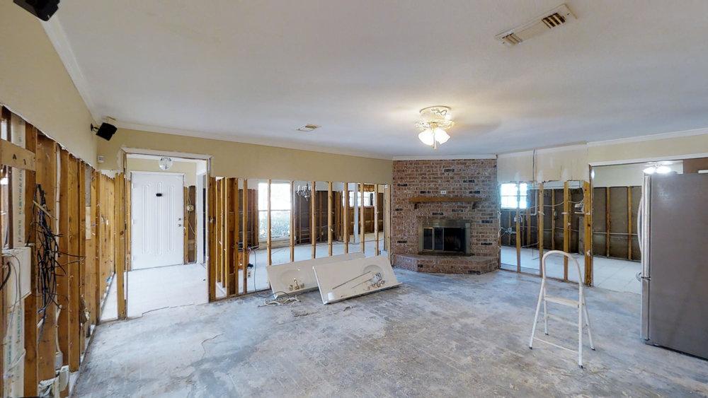 Hurricane Harvey residential damage assessment - 3D Photography used to provide insurance adjustor walkthrough.