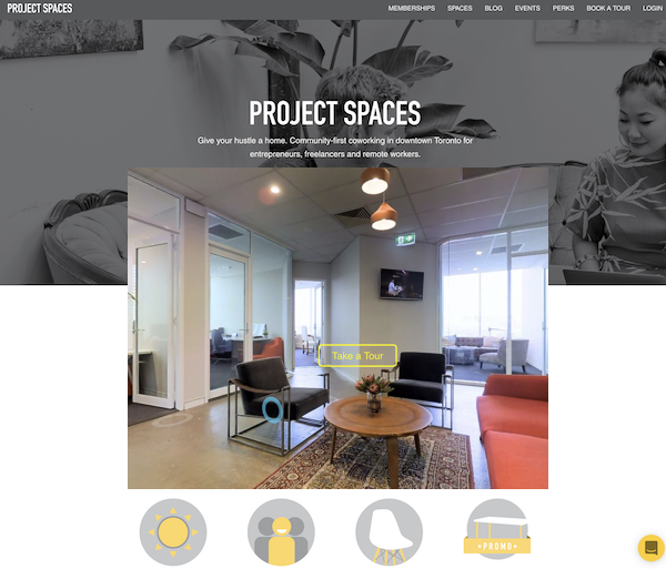 Immersive 3D Tour concept for Projectspac.es - A simple way to let your audience Experience projectspac.es on their device.