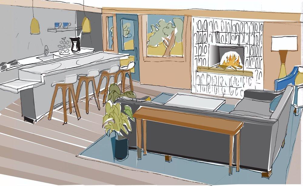 Clubroom - Concept Sketch
