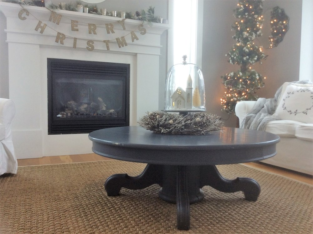 The round coffee table from Hurd's.