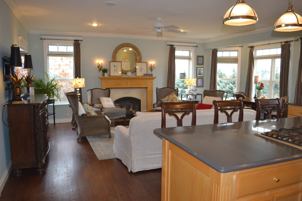 Donna enjoys the kitchen overlooking the family room