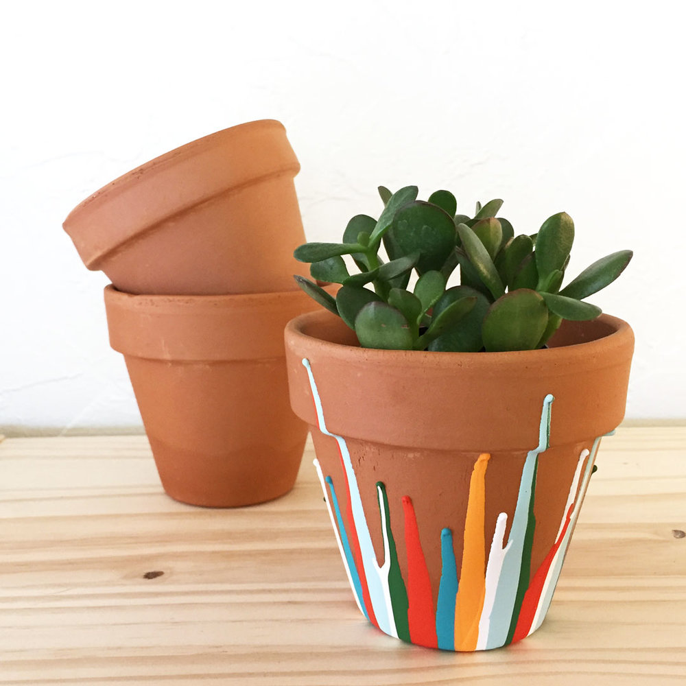 Painted plant pot DIY craft project