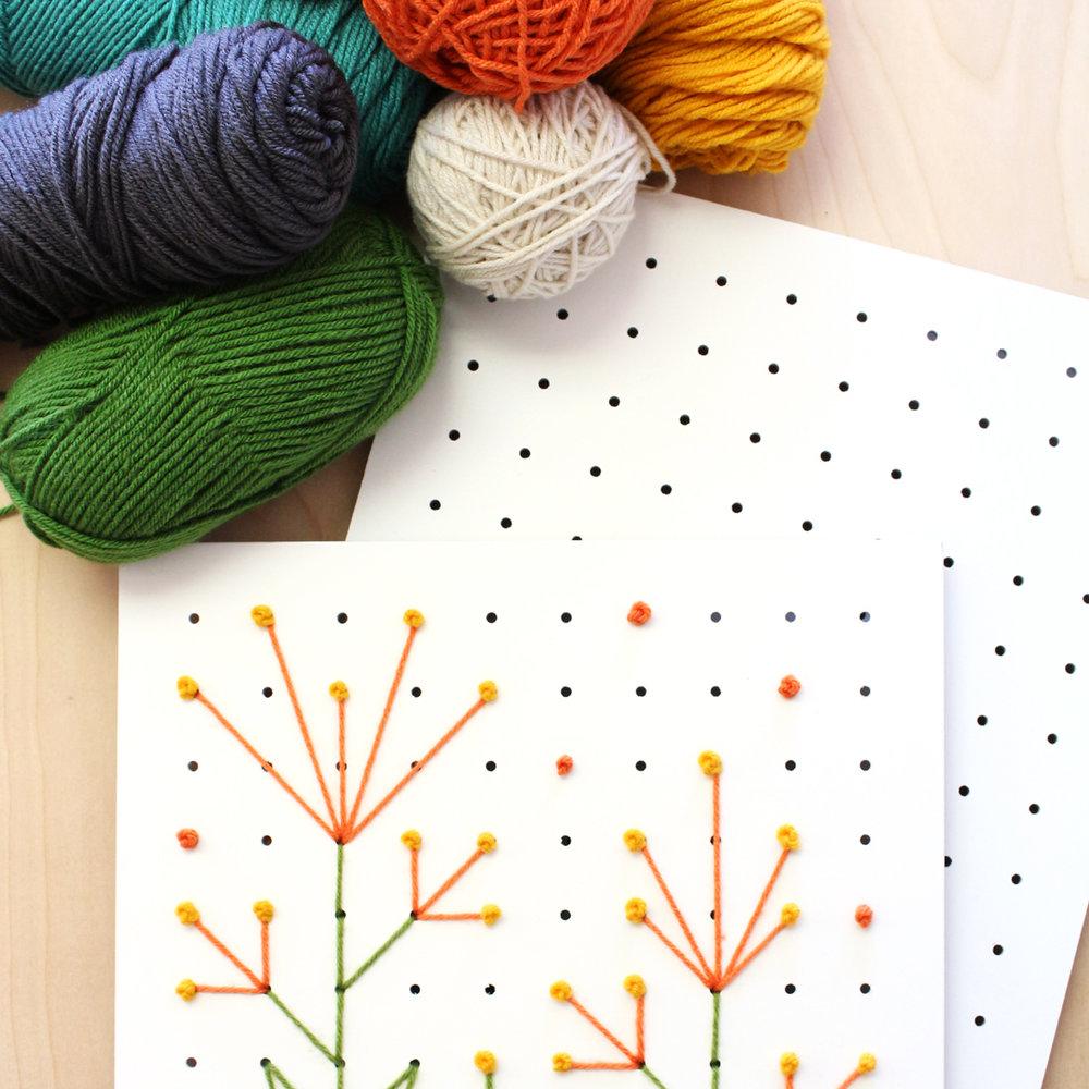 Pegboard cross stitch DIY craft project