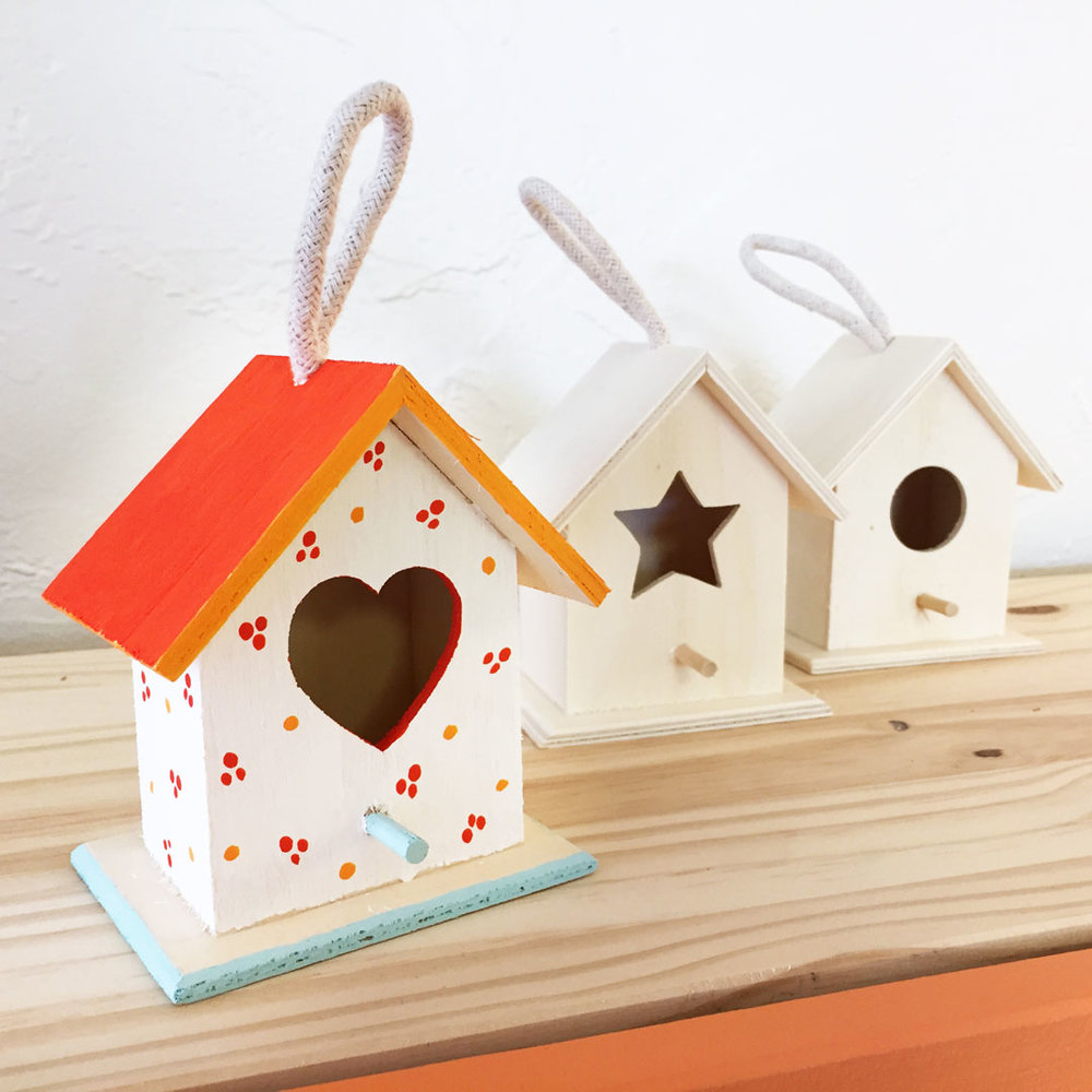 Paint your own wooden birdhouse