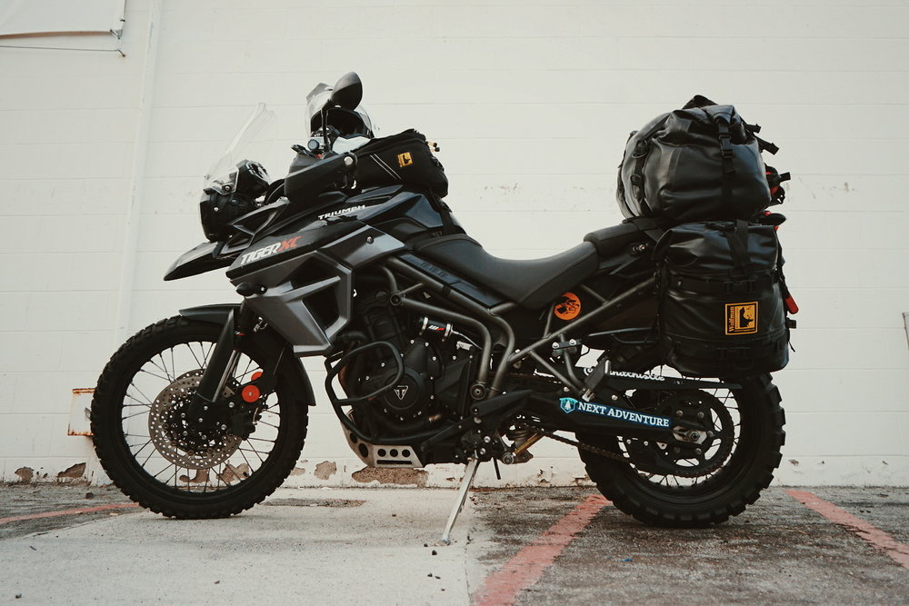 Amanda Zito's 2016 Triumph Tiger800xc, ready for adventure. Baja, Mexico 2018
