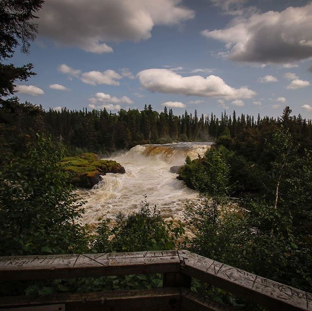 Pisew falls doesn't need a caption. It's perfection surrounded by black-flies, bears, and bog. . . . . . #northerntourism #exploremanitoba #travelmanitoba #northernmanitoba #waterfallsfordays