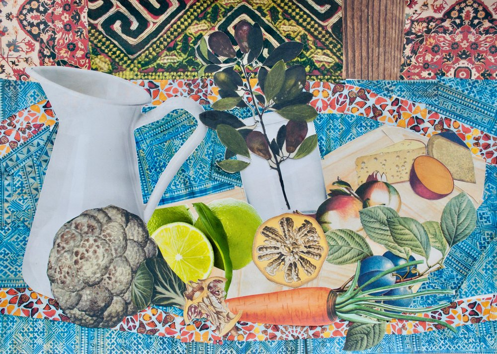 Trung - Still Life after Georges Braque's Still Life with a Lemon and Pipe.jpg