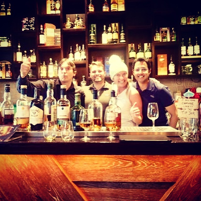 The Irish Whiskey Museum and our new friends.
