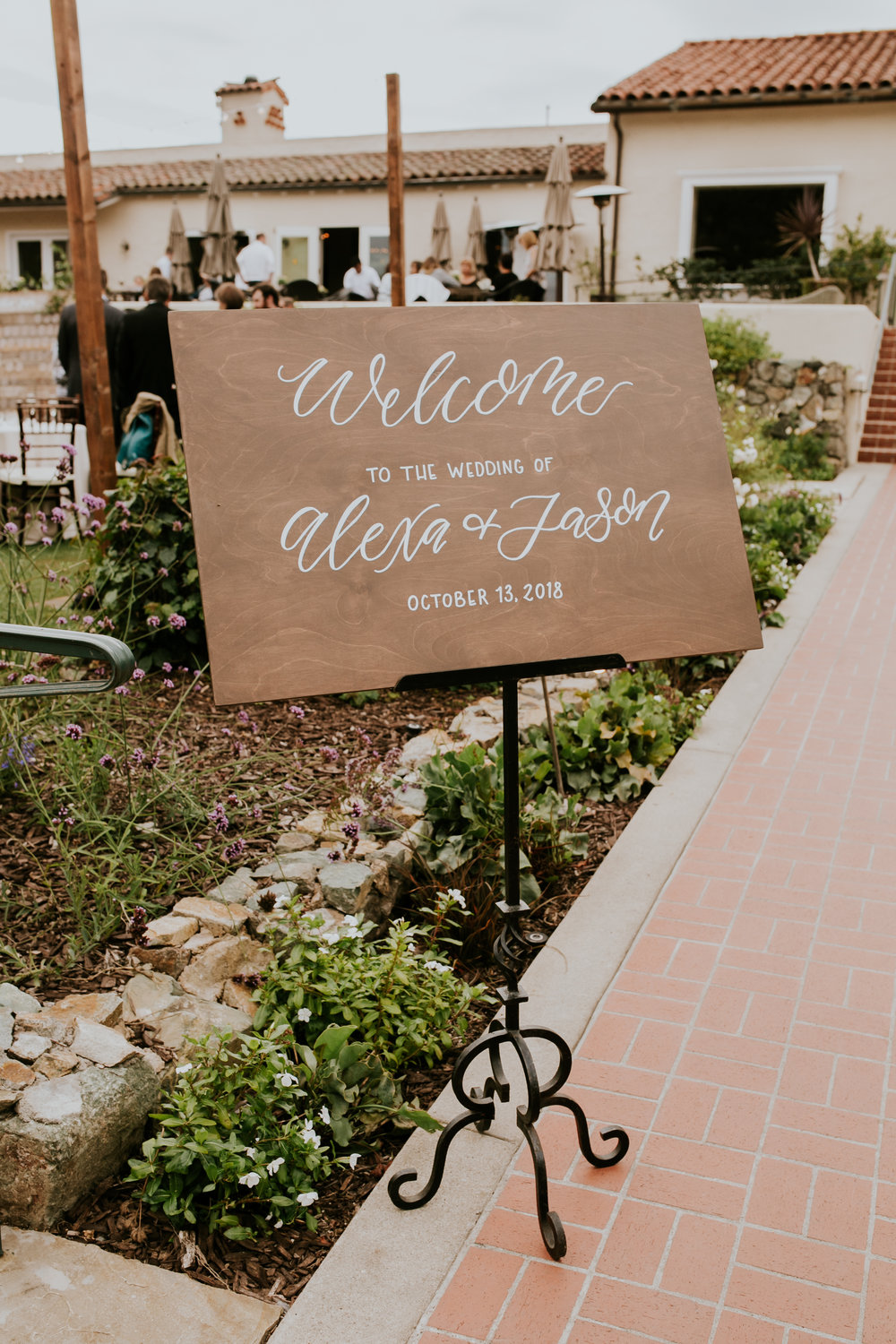 Wood Welcome Sign Calligraphy