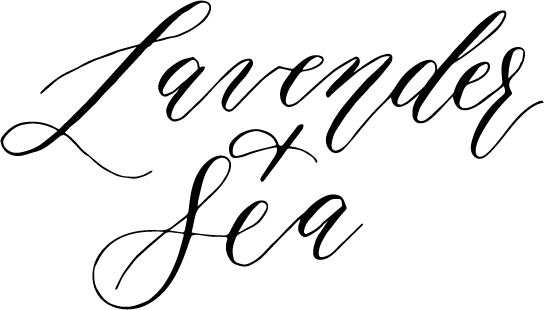 Lavender + Sea Calligraphy