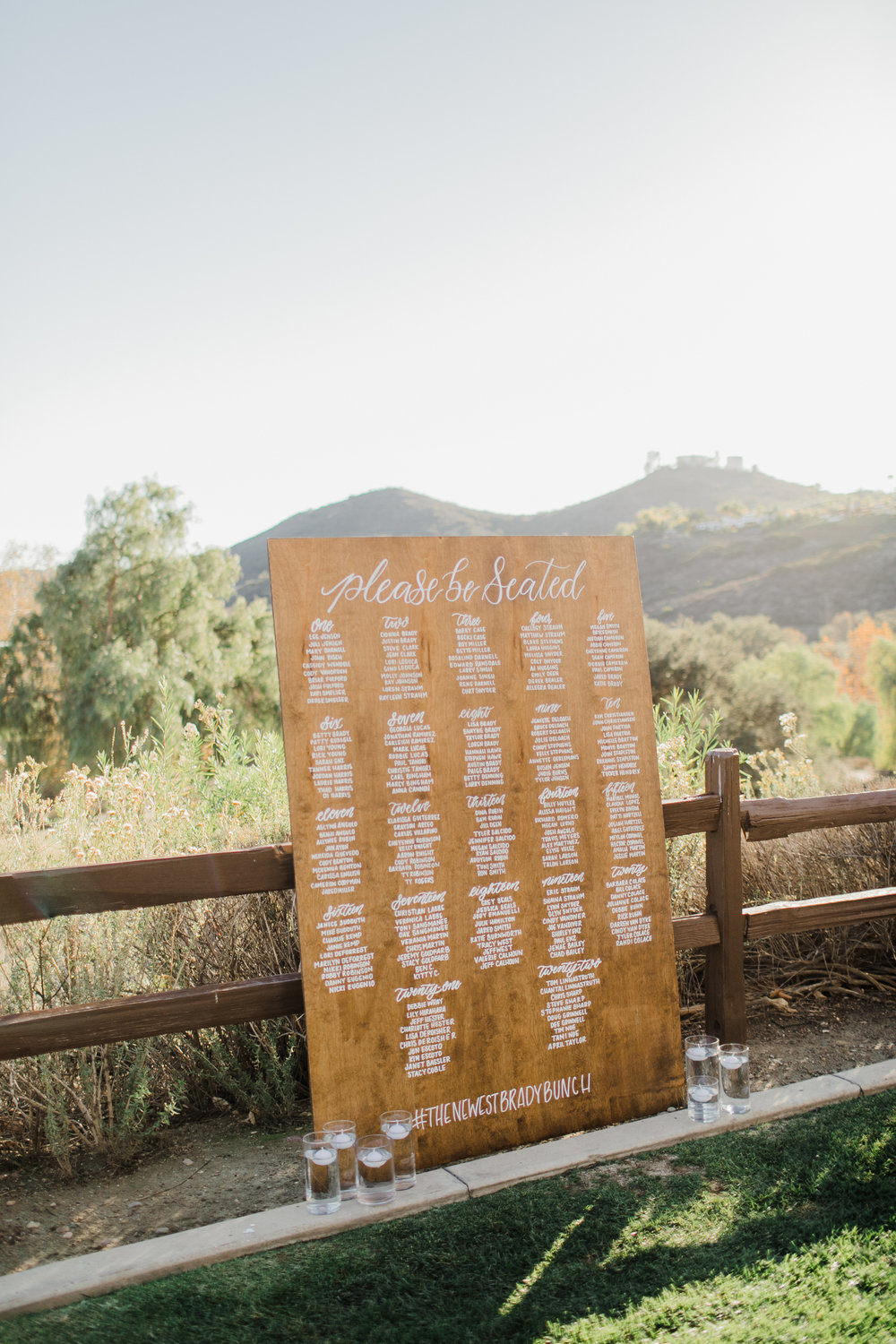 This is my large wood seating chart. it is approximately 4ft wide by 6ft tall. it can fit up to 250 guest names nicely.