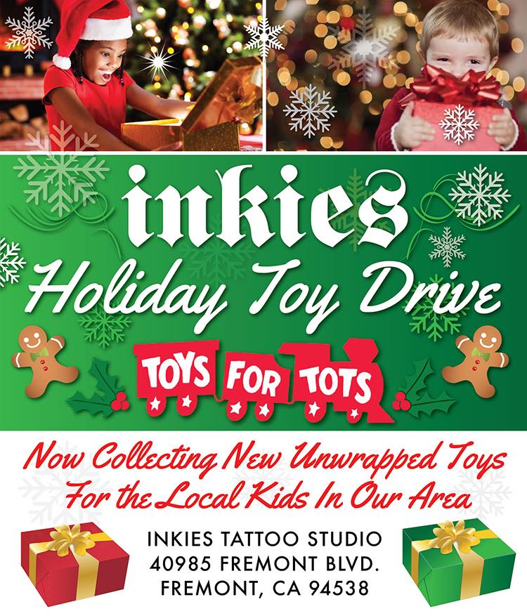 Inkies Toy Drive - Please bring a new unwrapped toy(s) to the IBA