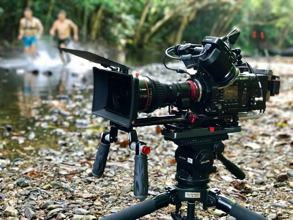 Cameraman - Ninja Warriors shoot, Cairns.