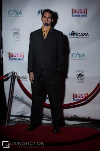 Dan on the red carpet at BOSS