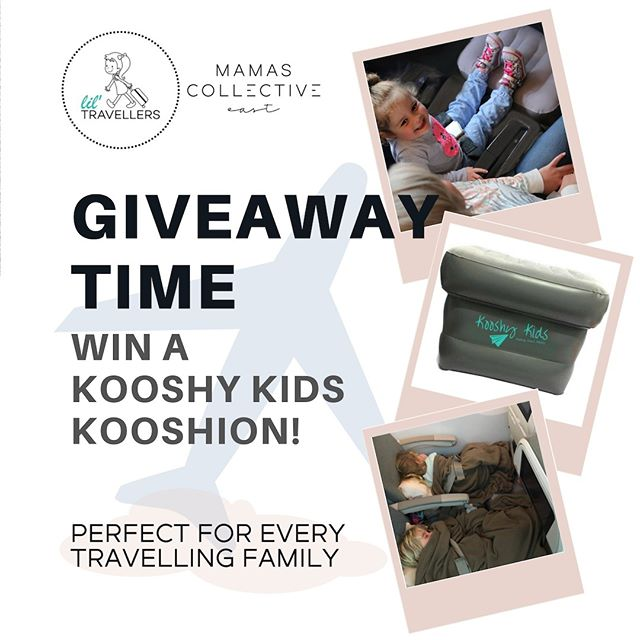 W I N // Don't think you can fly past this fantastic prize, mamas. Especially for young families who love to travel ✈️We have teamed up with @lil.travellers to give away ONE Kooshy Kids Plane Cushion. Lightweight and easy to take onboard flights, the cushion is designed so the little people in your life can have a flat space to sleep and rest. @lil.travellers loves to make family travel easier! This is the ultimate travel gear to win 🙌 ⠀⠀⠀ To enter, like this post, tag a friend and make sure you're following us @mamascollectiveeast and @lil.travellers. That's it. Let's go mamas! 👉🏼 ⠀⠀⠀⠀ #EastiesCollaborate #LocalCollaborateFlourish _________________ ⠀⠀⠀ • Competition starts Tuesday 5/3/2019 8pm and closes Thursday 7/3/2019 at 8pm AEST • Winners will be drawn randomly and notified via DM/Insta Story by Sunday 10/3/2019 8pm AEST • Prize is one Kooshy Kids Plane Cushion valued $59.95 • Postal address for prize must be within Australia and not a PO box • This competition is not endorsed, sponsored or administered by Instagram