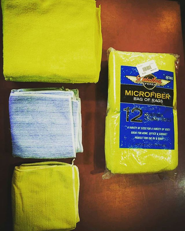 Everyone needs those throw away rags! And with this SALE you can have the detail quality ones! This 12 pack of rags is only $5.99!  Buy 10 or more it's $4.99 each and buy a case of 20 for only $4.00 each! Great for garage, office, or home use! Each pack comes with 12 microfiber cleaning towels of various sizes.  #cars #detailing #sanbernardino #towels #shop #garage #rags #scratches #professional #carwash #carshow #cutting #csbrite #cardetailing #supplies #cleanride #detailingworld #qualitycleaning #inlandempire #waxing #buffing #polish #dressing #degreaser #detailersofinstagram #carwash