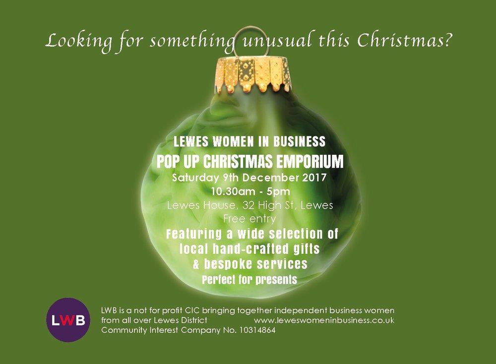 Lewes4Xmas Christmas Emporium market Lewes
