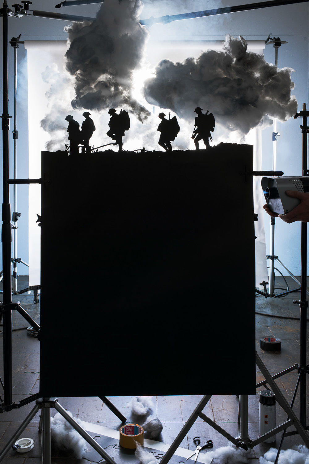 "Making of ""Five Soldiers Silhouette at the Battle of Broodsein"
