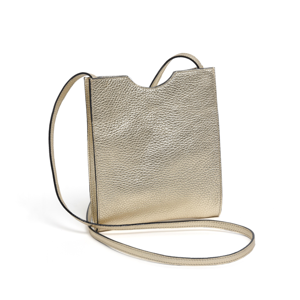Small Cross Body Bag in Gold