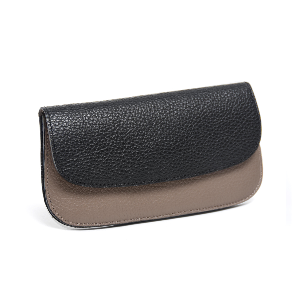 Purse in Taupe & Black