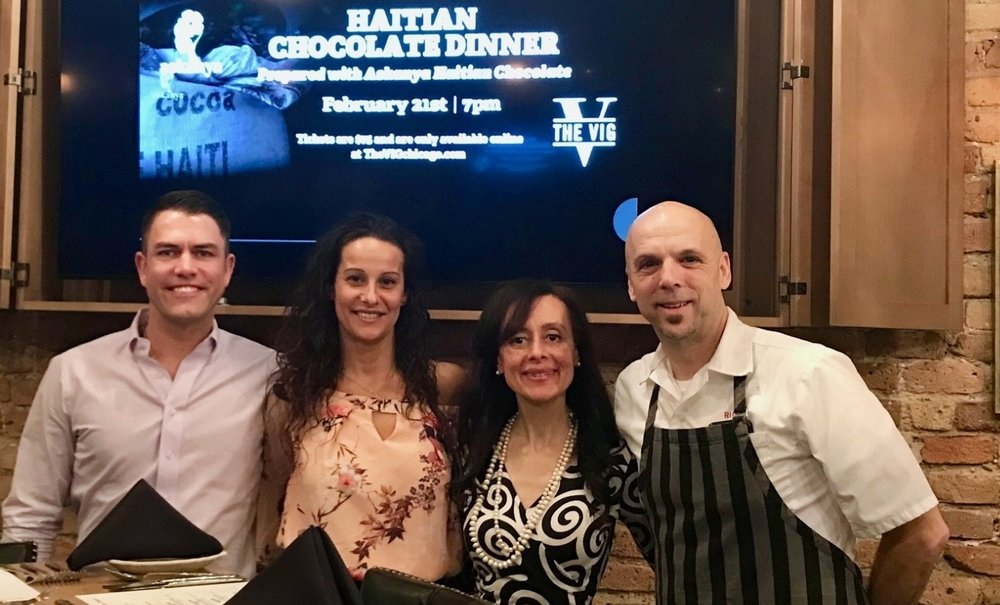 2018, Chicago Haitian Chocolate Dinner   helping  build schools in Haiti