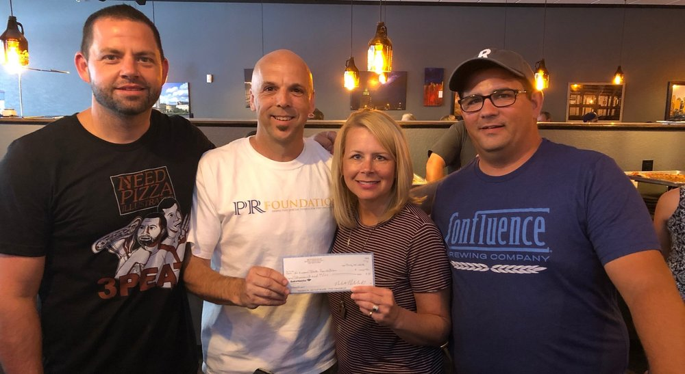 2018 Board member Bob Wagner and co founder Robert Kabakoff present a check to the I Know Jack Foundation helping in the fight against Cancer and supporting Cancer survivors and their families.