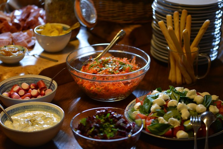 Food at Les Deux Chèvres