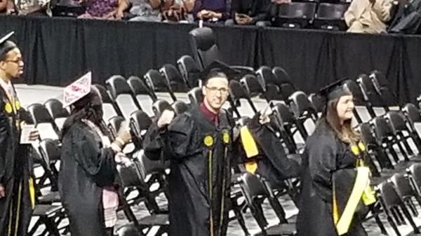 Jordan Brown at VCU Master of Social Work graduation