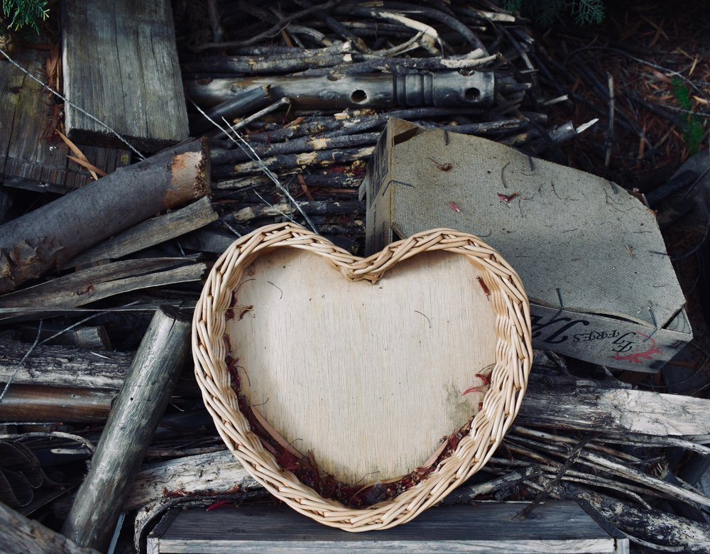 wicker basket heart to fill with meaning