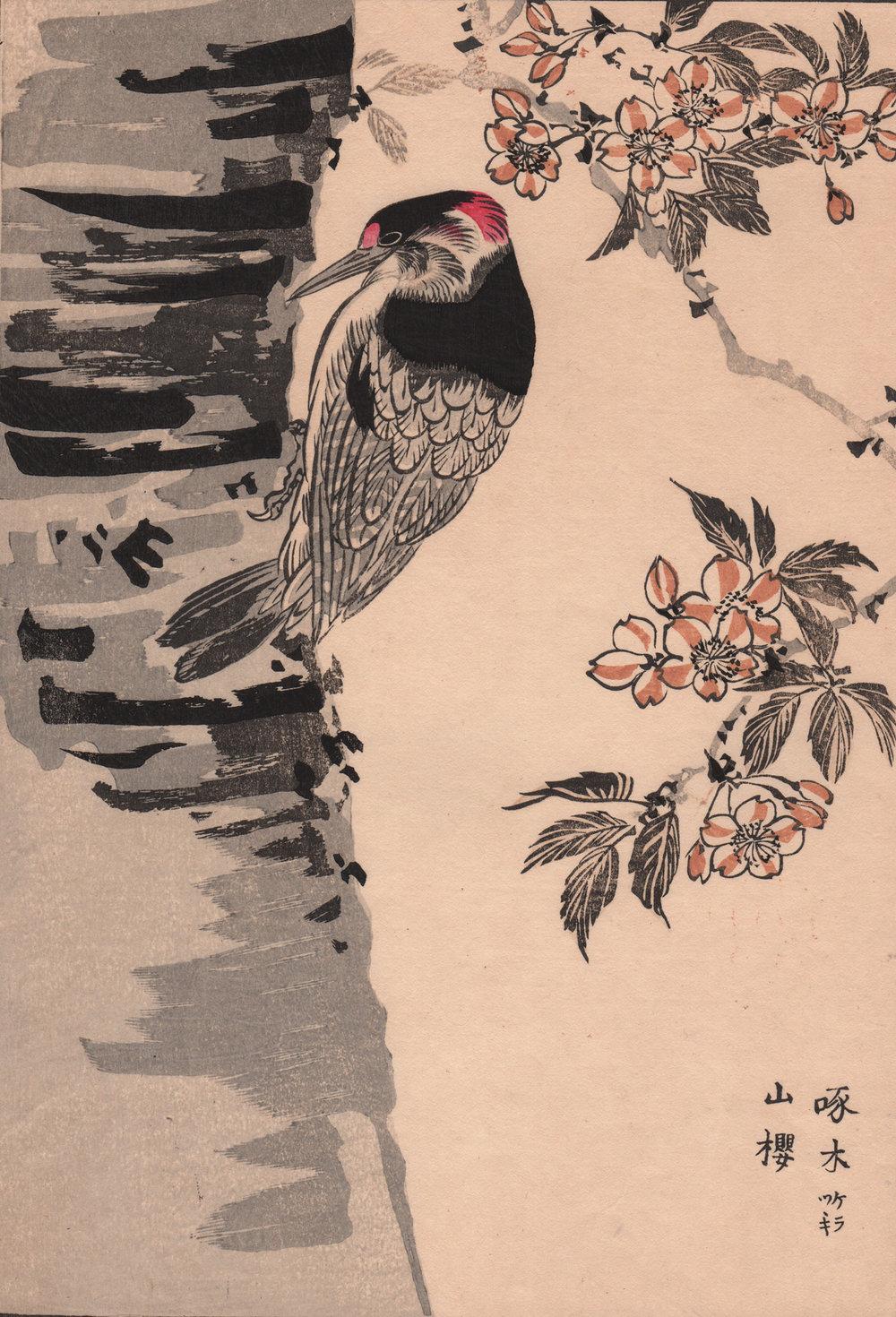 Imao Keinen kacho-ga 1885 woodblock prints