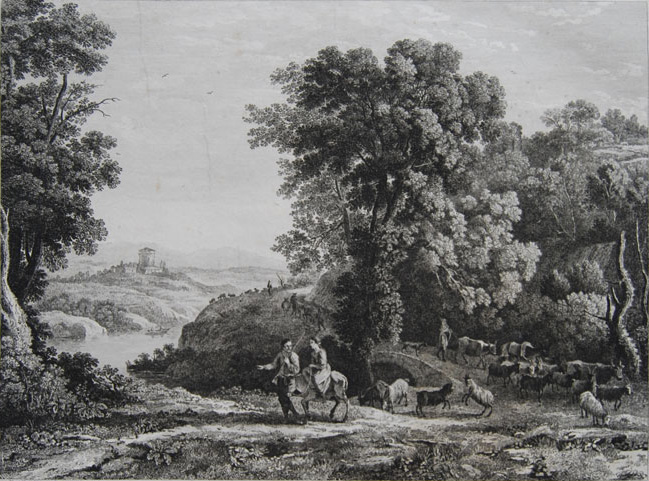 Lorraine, Poussin and Lauri etchings