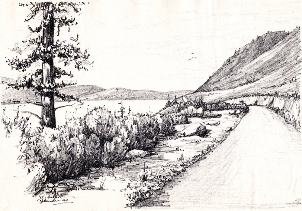 Vintage B.C. Canada sketches by R. Edward Blunden