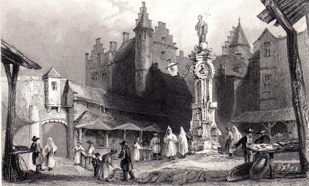 Miscellaneous antique prints of Belgium & Holland