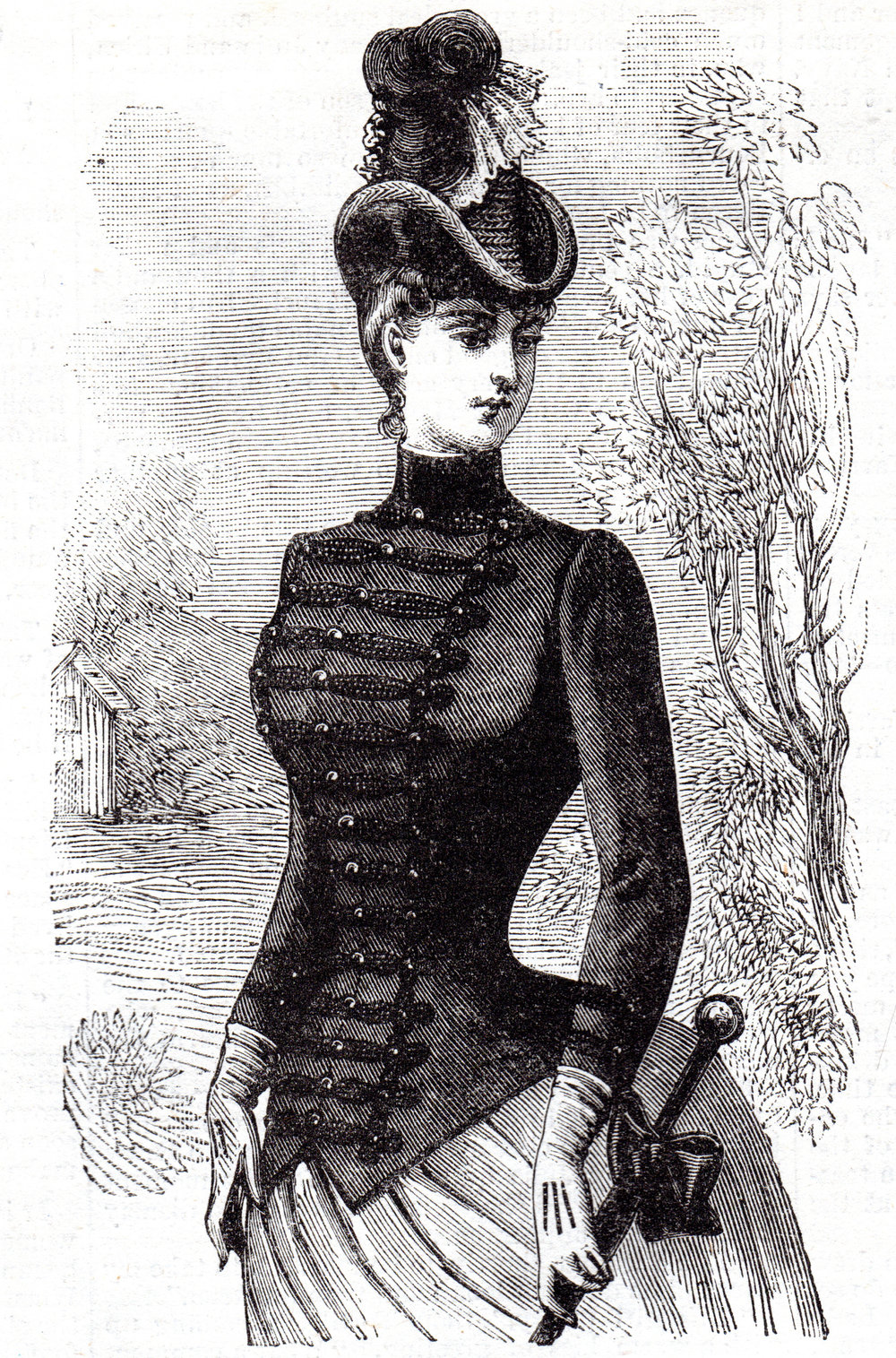 'Victorian' fashion prints, embroidery patterns, etc.