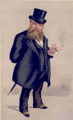 """APE""  (Carlo Pellegrini) as drawn by AJM in 1889"
