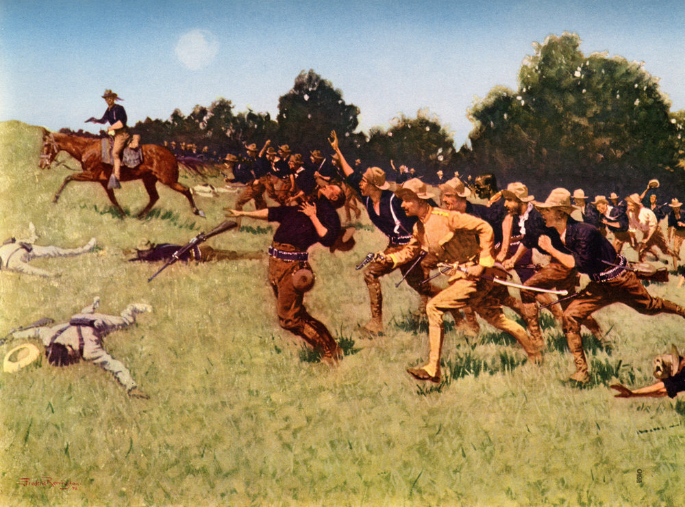 Frederic Remington prints of the Spanish American War and Western