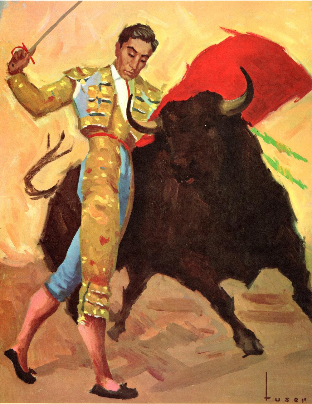 Bullfighting, Matadors vintage prints