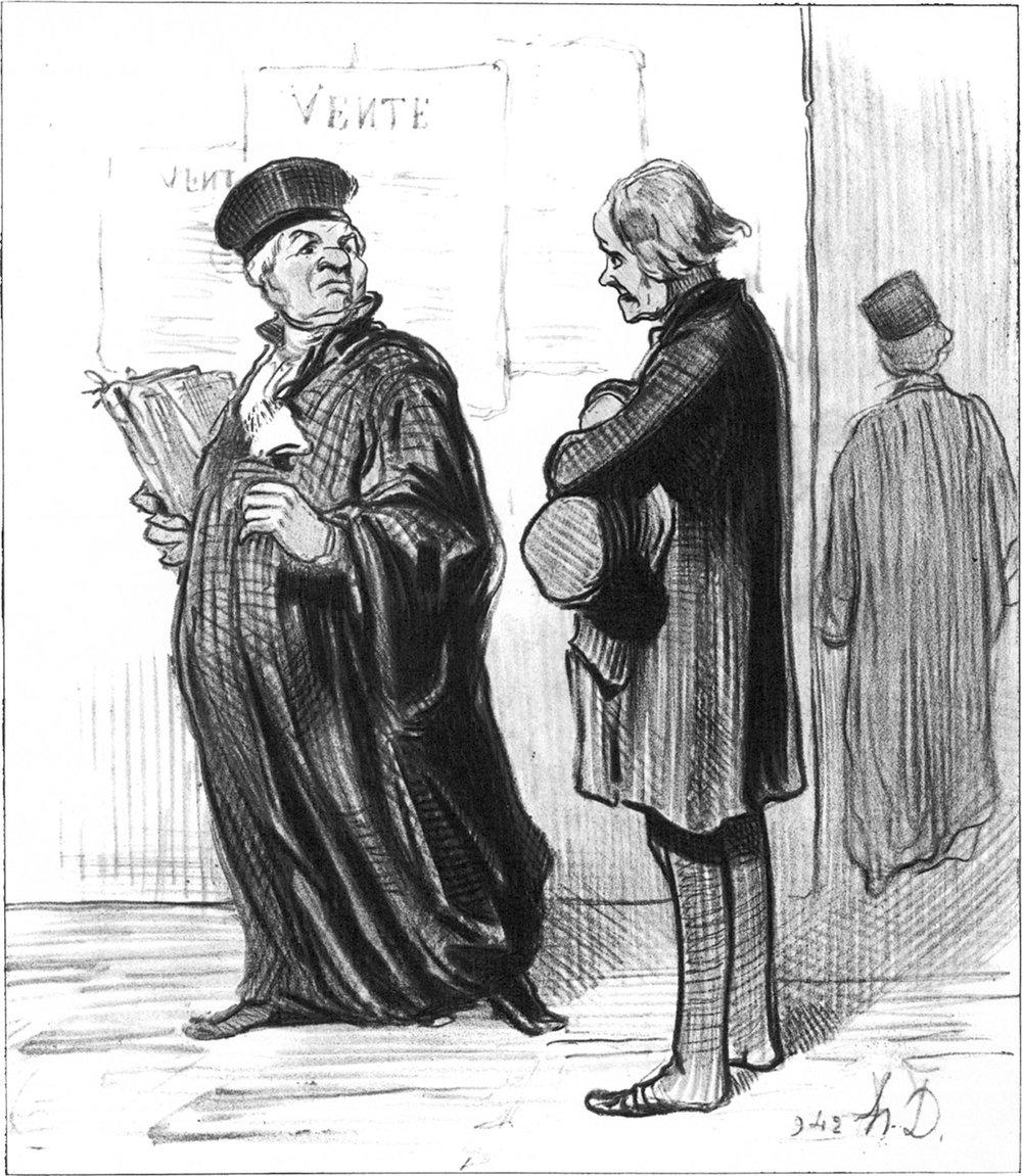 Honoré Daumier's Les Gens de Justice (1959)