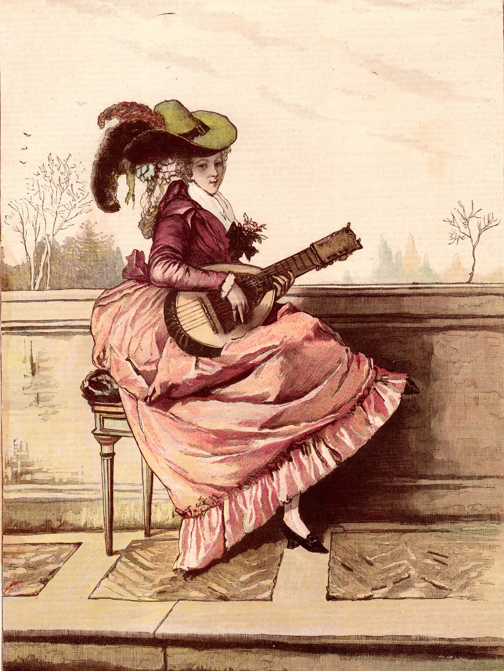 Antique prints of music-related subjects  from various, mostly 19th-century sources
